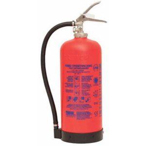 Φορητός πυροσβεστήρας ξηράς σκόνης 6kg δοχειο kevlar